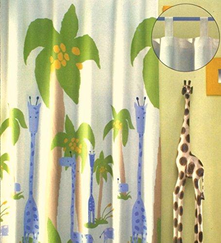 sch ne kindergardine schlaufenschal safari deko kinderzimmer hxb 260x140 cm einfach k rzbar. Black Bedroom Furniture Sets. Home Design Ideas