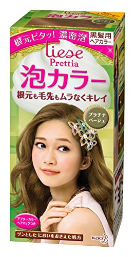 KAO Prettia Bubble Hair Color, Platinum Beige, 0.5 Pound (Liese Platinum Beige compare prices)