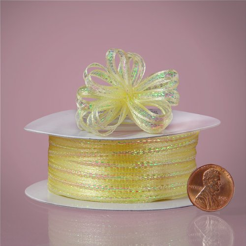 "Baby Maize Mini Pull String Bows, 1/8"" X 50yd - 1"