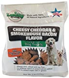 Lucky Pet Brands Cheesy Cheddar and Smokehouse Bacon All Natural Premium Dog Treats, 2-Pound