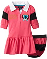 U.S. Polo Assn. Baby-Girls Infant Three-Quarter Sleeve Polo Jersey Dress