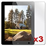 eForCity Reusable Clear Screen Protector Compatible With Apple®  iPad® 2 / iPad® with Retina display / iPad® 4 (3 Pack)