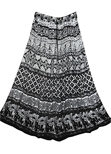 jnb-garments-falda-para-mujer-blanco-printed-black-and-white-talla-unica