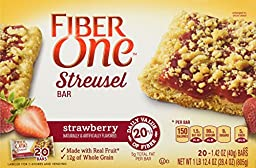 Fiber One Streusel Bar, Strawberry (20 ct),1.42 OZ