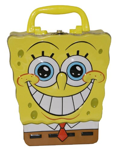 The Tin Box Company Sponge Bob Head Shaped Carry All