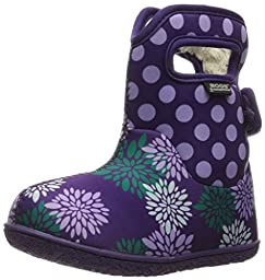 Bogs Baby Classic Pompon Dot Winter Snow Boot (Toddler), Grape/Multi, 6 M US Toddler