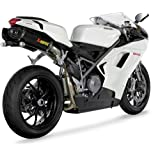 Akrapovic ducati 848 08-10 slip-on carbon hexagonal /race