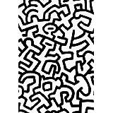 BLIK 貼ってはがせるパターン壁紙 キース・へリング Keith Haring pattern Wall Tiles  アメリカ発 きれいに剥がせて壁を傷めないので賃貸にもOK! BKH-110-PWT