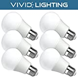 Vivid Lighting LED Bulbs, 60 Watt Replacement, 8W, 800 Lumens, 6 Pack, Soft White (2700K), Non-Dimmable