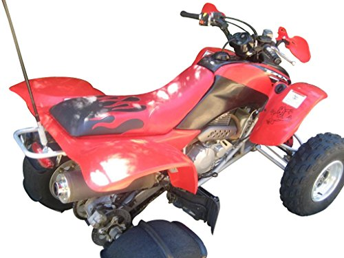 Honda TRX 400 EX Black and Red Flame Seat Cover (Red Flame Seat Covers compare prices)