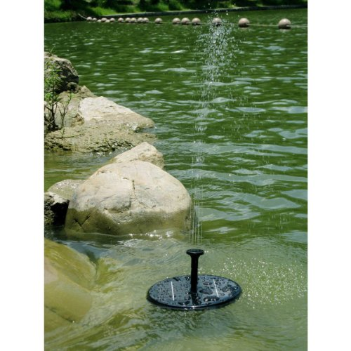 DQDF 1.4W 8V Sun Floating Submersible Solar Panel Power Fountain Water Pump For Pond Pool Garden Plants Watering