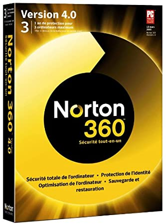 Norton 360 version 4.0 + 2 go d'espace en ligne (3 postes/ 1 an)