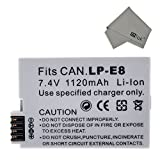 FitTek® Sanger LP E8 Ultra High Capacity Rechargeable Li-ion Battery Replacment for Canon LP-E8 Compatible with Canon EOS 700D 650D 600D 550D /Rebel T5i T4i T3i T2i