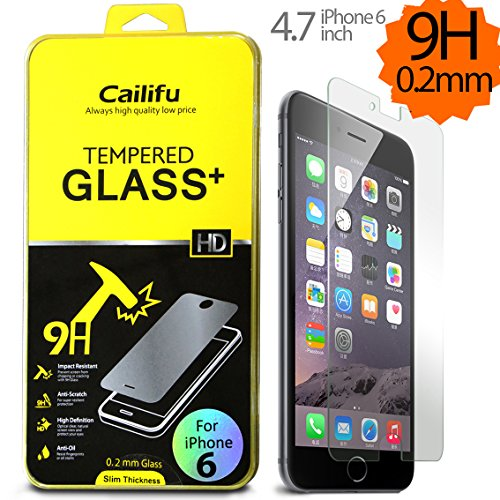 "Iphone 6 4.7 "" Screen Protector Cailifu [0.20Mm Tempered Glass] Highest Quality Premium High Definition Ultra Clear Screen Protector With Lifetime Replacement Warranty [1-Pack] - Retail Packaging 2014 (0.20Mm,2.6D Rounded Edges)"