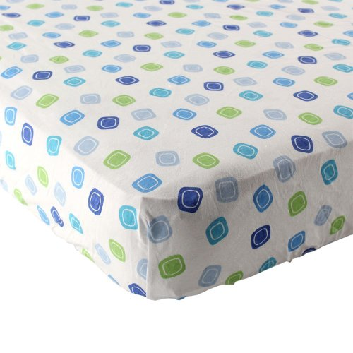 Luvable Friends Geometric Print Fitted Knit Crib