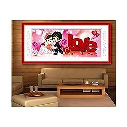5D Diamond Painting Wedding Living Room LOVE Forever Figure Series Round Diamond