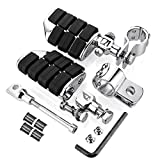 Astra Depot 2pcs Chrome Billet Dually Foot Rest Highway Pegs + 1-1/4