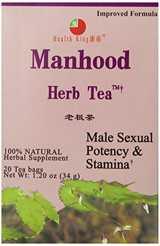 Health King  Manhood Herb Tea, Teabags, 20 Count Box