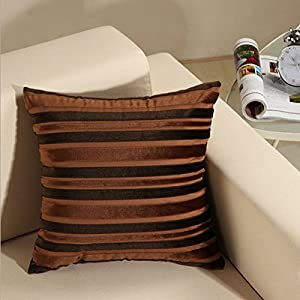 Amazon.com - Dark Brown Colored Corduroy Square Sofa Home Bed Decorative Throw Pillow Case ...