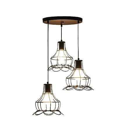 Moderno simple creativo de hierro pétalos de luz de techo, industrial comedor araña conjunto - 3 luces para la sala de oficina decorativo iluminación colgante de luz, negro WSHceilinglamp