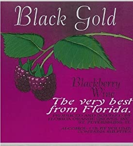 NV Florida Orange Groves Black Gold SEMI-SWEET Blackberry Wine 750 mL