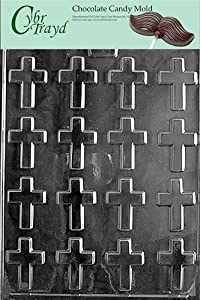Cybrtrayd R004 Bite Size Crosses Chocolate Candy Mold with Exclusive Cybrtrayd Copyrighted... by CybrTrayd