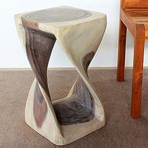 Amazon Com Wood Twist Stool 12 X 12 X 20 Inch High Agate