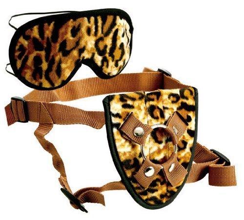 Cal Exotic Furplay Harness &Mask Brown