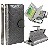 Vogue shop Leather Case with Wallet Compatible with Apple iPhone 5/5S ,Wallet Case,imported-PU Leather Case ,Cash,Credit Card Holder,Flip Cover Skin for iPhone 5/5S (grey)