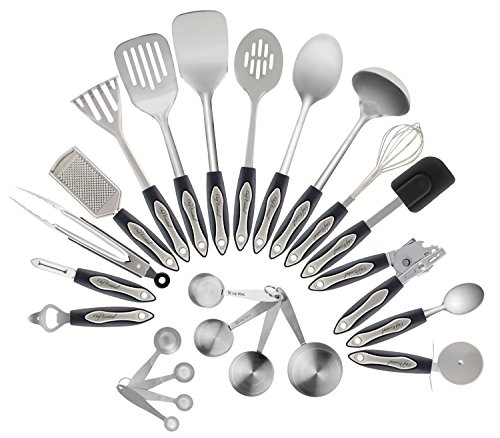 Chef Essential 23-Piece Stainless Steel Kitchen Utensil Set (Cookware Utensil Set compare prices)