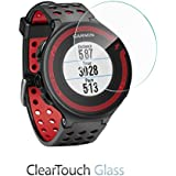 Garmin Forerunner 225 Screen Protector, BoxWave® [ClearTouch Glass] 9H Tempered Glass Screen Protection for Garmin Forerunner 225