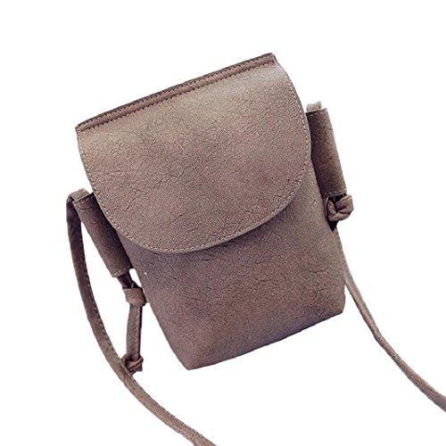 Kingko® Le donne della borsa di modo Tracolla Large Tote signore borsa Messenger Bag borsa casual (Cachi)