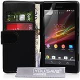 Sony Xperia SP Wallet Case schwarz