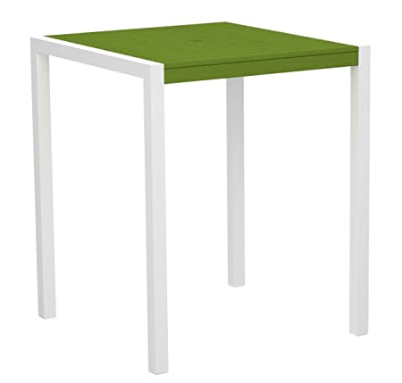 "POLYWOOD 8102-10LI MOD 36"" Bar Table, Gloss White/Lime"