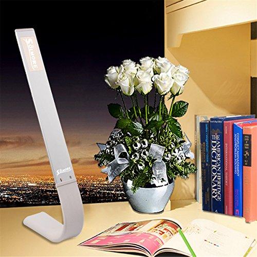 SOLMORE-LED-Schreibtischlampe-Berhren-Licht-180-Grad-Kreativ-Farbtemperatureinstellung-Tischleuchte-Tageslicht-Leseleuchten-Hause-Bro-Reise-Lampe-Silver