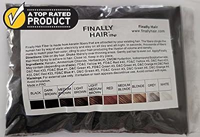 Finally Hair Keratin Hair Building Fibers - 25 Gram 25g 25 g gr gram 25gram Refill