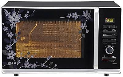 LG MC3283 PMPG 32-Litre Convection Microwave Oven (Black Paradise Floral)