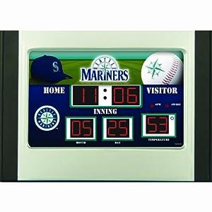 Seattle Mariners Alarm Clock Desk Scoreboard by Team Sports America