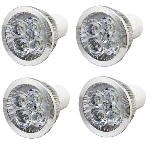 Amzdeal® 4 Pack Of 4W Gu 10 Led Light Bulbs+50 Watt Incandescent Equivalent+Recessed Lighting+Track Lighting+Warm White