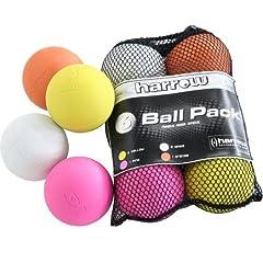 Harrow 6 pack Lacrosse Balls in Mesh Bag, Multi, One Size by Harrow
