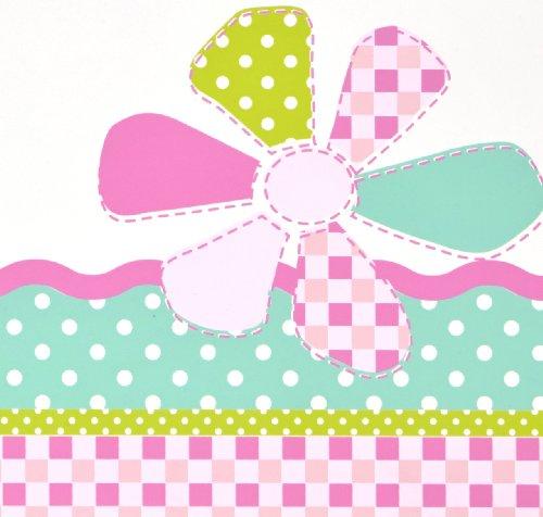 Worlds Apart 863728 Lit pour Enfants Papillons et Fleurs MDF/Bois Blanc/Rose 145 x 77 x 59 cm