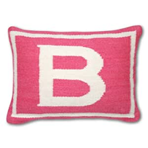 Throw Pillows With Letters On Them : Amazon.com: Jonathan Adler Letter Baby Pillow, Pink, Monogrammed B: Home & Kitchen