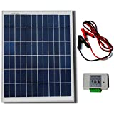 ECO-WORTHY 20W 12V Solar System Kit :1pc 20w Poly Solar Panel+Battery Clips +3A Charge Controller