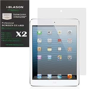 i-Blason 2 Pack iPad Mini 7.9 Inch Screen Protectors 1 Clear (invisible) + 1 Matte (Anti-glare) for
