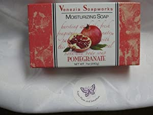 2 Bar Set Venezia Soapworks Moisturizing Soap Pomegranate - 7 ounces each
