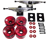 "LONGBOARD Package CORE 7"" SILVER TRUCKS 70mm RED WHEELS"