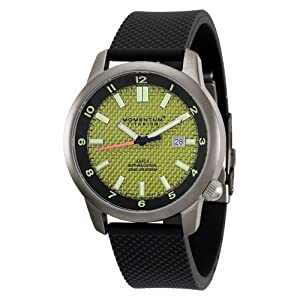 Momentum Men's 1M-SP20Y1 Logic TI Yellow Dial Black Rubber Bracelet Watch