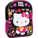 "Hello Kitty 15"" Black & Pink Backpack"