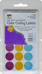 Charles Leonard Labels - Self-Adhesive - Color Coding - 306/Box, 72306