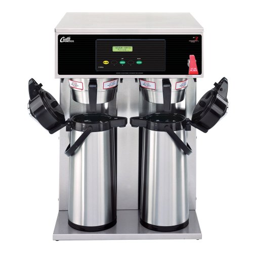"Wilbur Curtis D1000GT63A000 Standard Airpot Coffee Brewer, Dual Voltage, Twin, 74-Ounce Capacity, 26"" Height x 18.13"" Width"